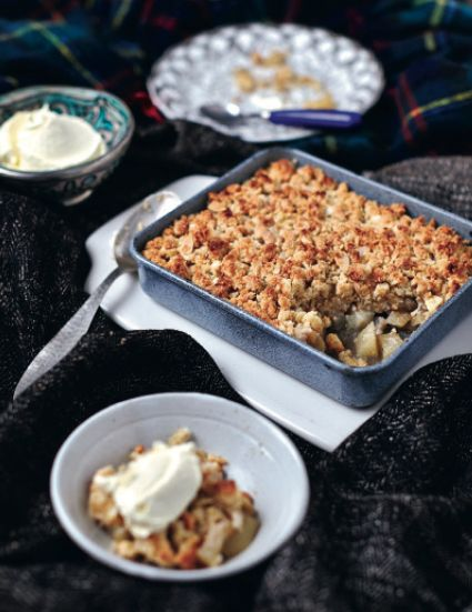 Pear and Five Spice Crumble